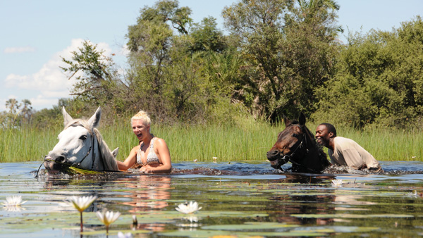 Botswana, Okawango Macatoo - riding safari